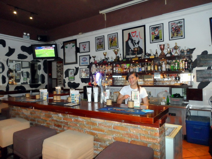 Bar at The Spotted Cow, Bui Vien, HCMC, Vietnam