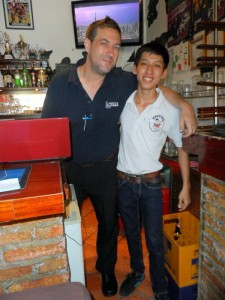 Staff at The Spotted Cow, Bui Vien St, HCMC, Vietnam