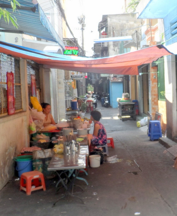 Every laneway is lined with food stalls