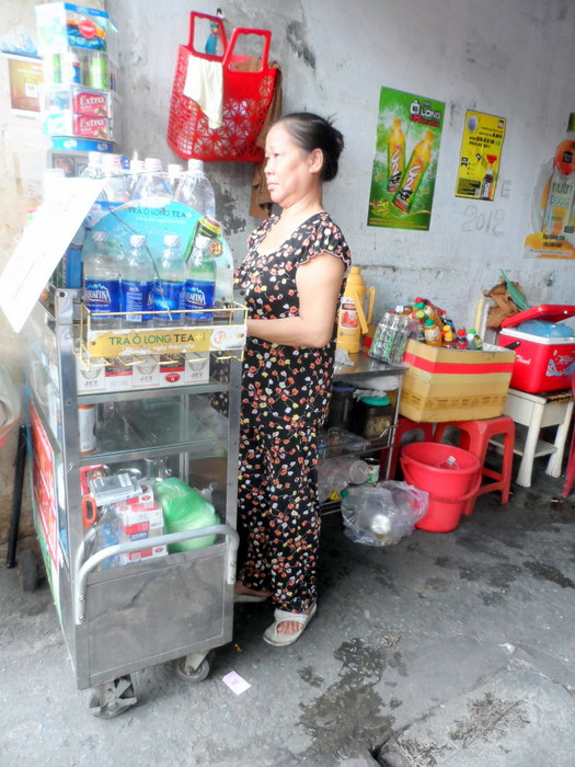 Vietnamese coffee lady