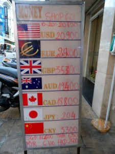 Exchange rates to Vietnamese Dong May 2014