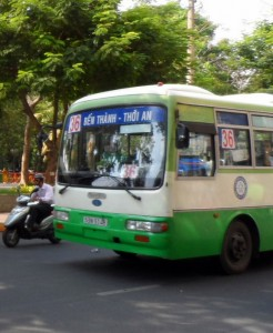 A Ho Chi Minh City bus cost < 5000 Vietnamese Dong