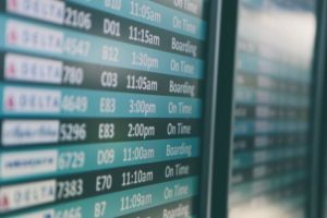 Flights to Ho Chi Minh City - departure board