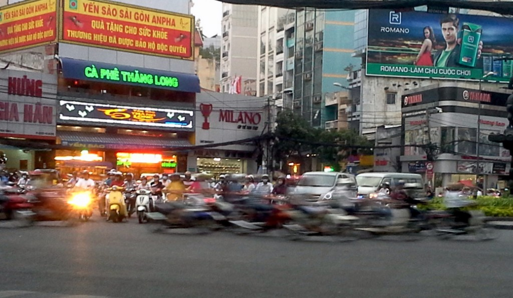 Walking Ho Chi Minh City - Traffic Mayhem