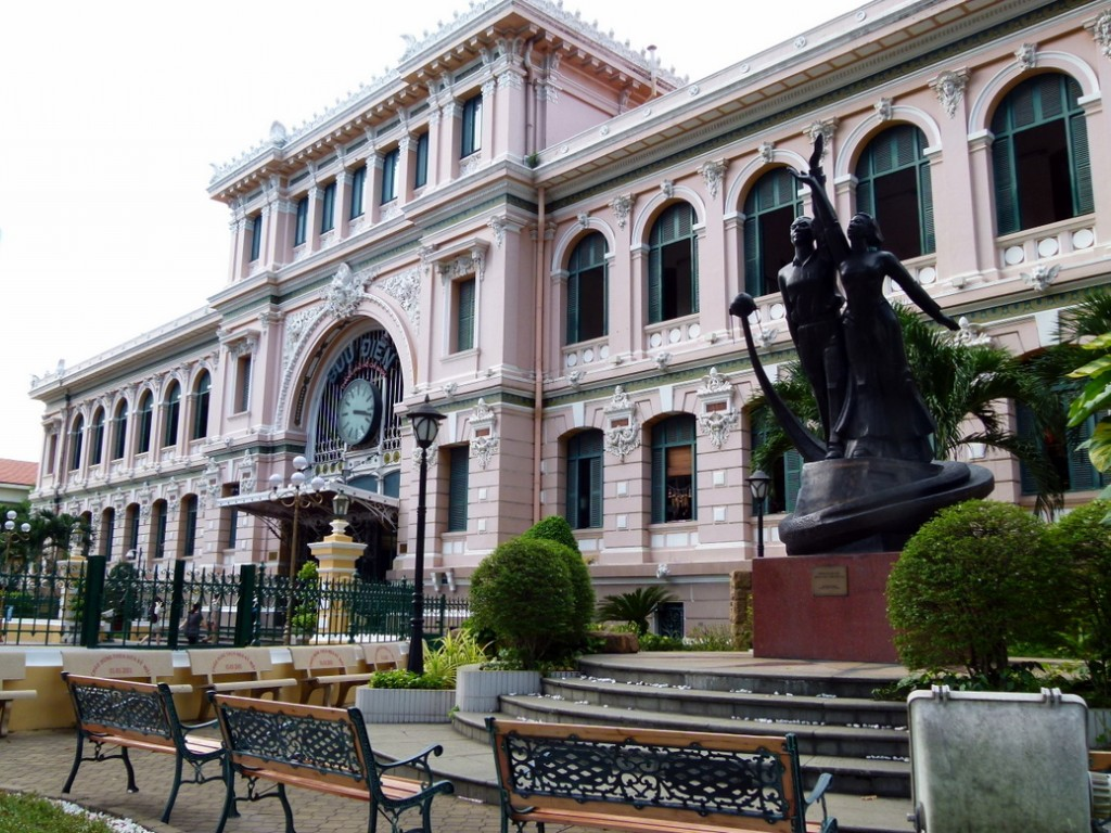walking around Ho Chi Minh City Photos- Old Post Office