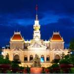Saigon City Hall by Night