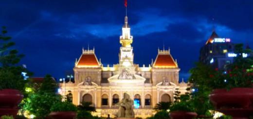 Saigon City Hall by Night