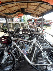 Vietnam Cycling Reviews - Bikes on the boat