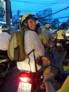 Saigon Food Tour - Riding around town