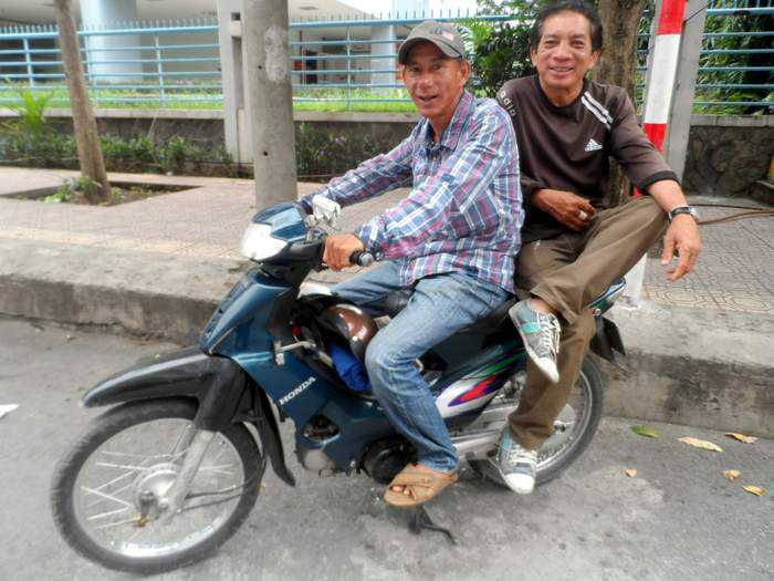 Xe Om - Motorbike taxis in Saigon
