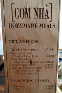 Com Nha - Homemade Meals menu