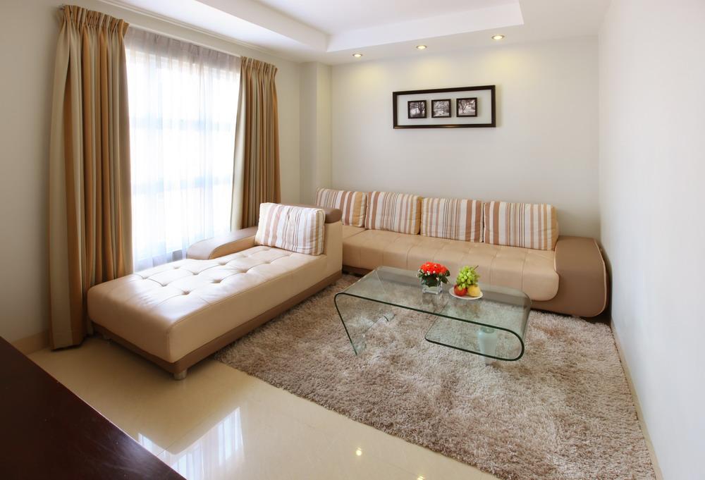The spacious living area in the Executive room. (photo courtesy of the Sanouva Saigon Hotel
