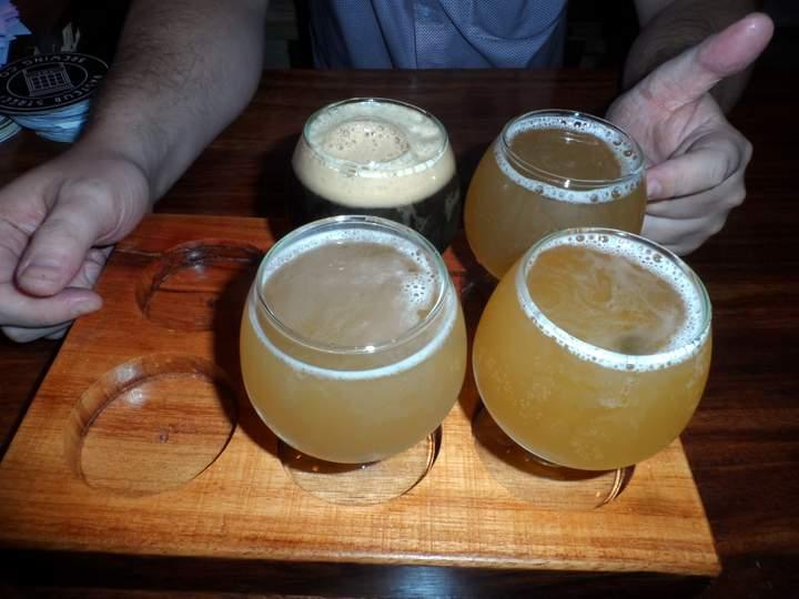 Pasteur Street Brewing Company - tasting palette