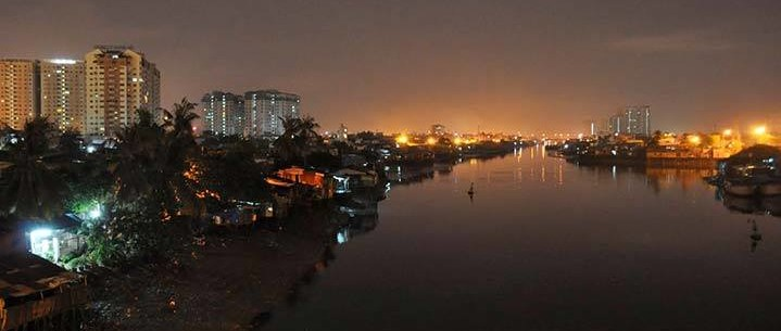 Saigon River at sunset. Photo courtesy of  David Lyonz