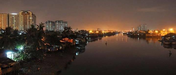 Saigon River at sunset. Photo courtesy of  David Lyonz