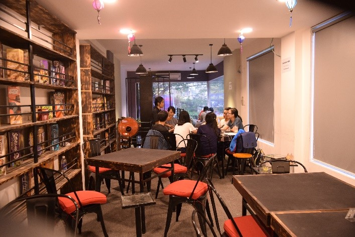 Upstairs at Board Game Station Cafe - Ho Chi Minh City